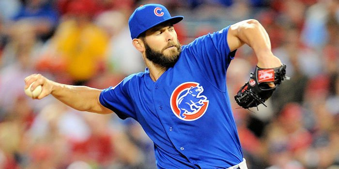 Cubs ace Jake Arrieta pitched well against his former club on Saturday night, giving up only four hits in 6.2 innings.