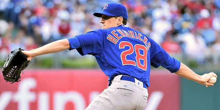 Chicago Cubs starting pitcher Kyle Hendricks struggled right out of the gate, and the Cubs were never able to make up for it at the plate in Tuesday's game.
