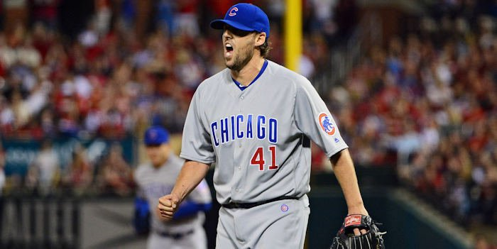 Cubs starting pitcher John Lackey was victimized twice by the long ball in Saturday night's loss to the Brewers