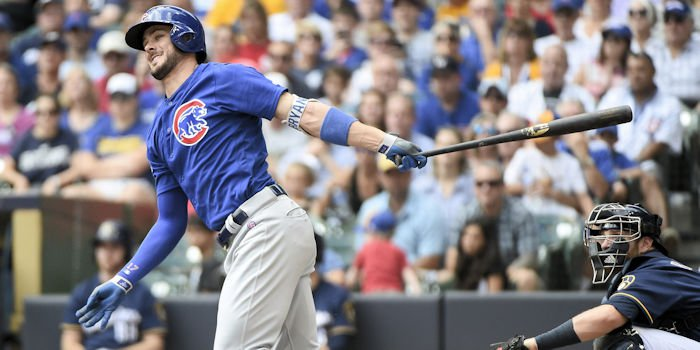 Kris Bryant went yard on Sunday for the 20th time this season, making him just the fourth Cub to compile three 20-homer seasons before his 25th birthday. Photo Credit: Benny Sieu - USA Today Sports
