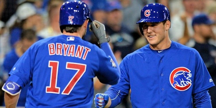 Bryant and Rizzo have a good friendship (Jake Roth - USA Today Sports)