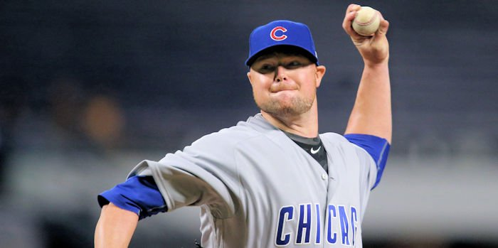 Veteran starter Jon Lester threw 111 pitches on the evening and never seemed to miss a beat. (Photo Credit: Charles LeClaire-USA TODAY Sports)