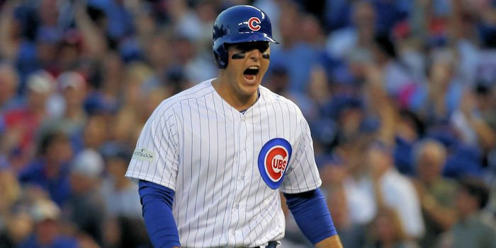 Like he has done all season long, Anthony Rizzo produced when it mattered most. (Credit: Jerry Lai-USA TODAY Sports)