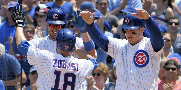The Chicago Cubs avoided a sweep behind a solid offensive performance on Sunday. Credit: David Banks - USA Today Sports