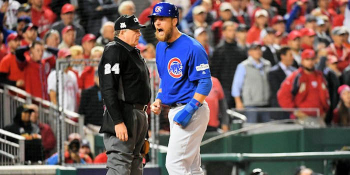 Overcoming lackluster pitching, the Chicago hitters were particularly clutch in the Cubs' Game 5 triumph. (Credit: Brad Mills - USA Today Sports)