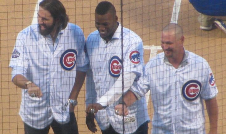 Former Cubs receive their World Series rings