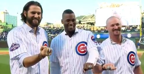 WATCH: Hammel, Soler, Wood receive their World Series rings