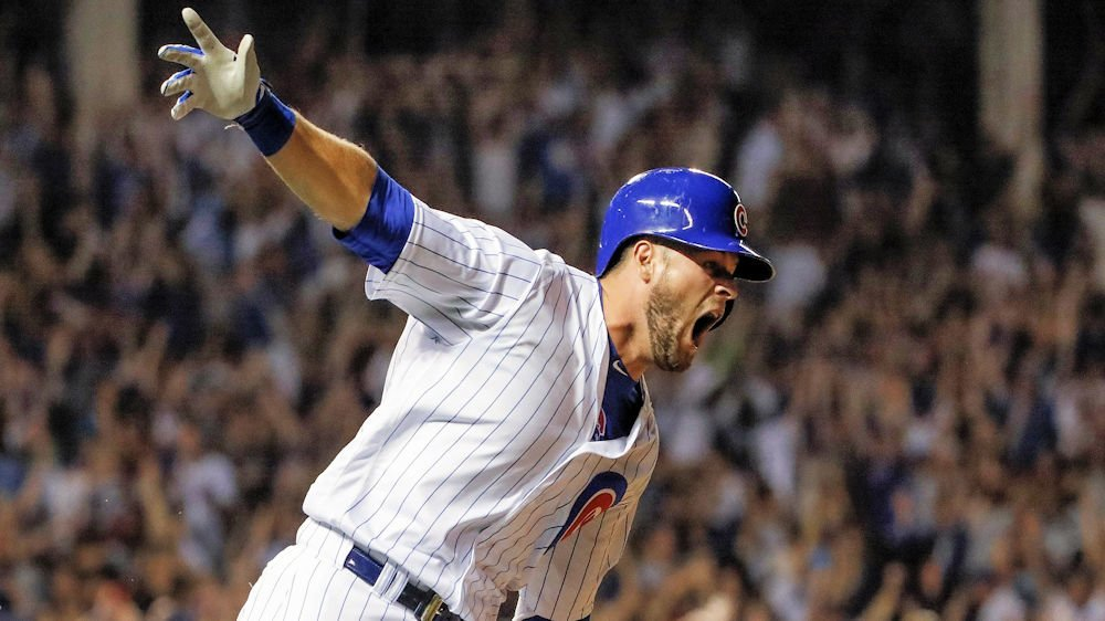 David Bote's third career home run was arguably the biggest hit of his life. (Photo Credit: Kamil Krzaczynski-USA TODAY Sports)