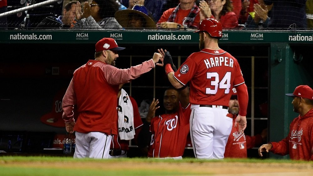 Bryce Harper's two-run blast off Justin Wilson proved to be the winning hit. (Photo Credit: Tommy Gilligan-USA TODAY Sports)