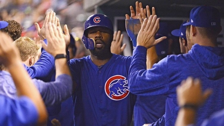 Chicago Cubs right fielder Jason Heyward was a late scratch from Wednesday's game. (Credit: Jeff Curry-USA TODAY Sports)