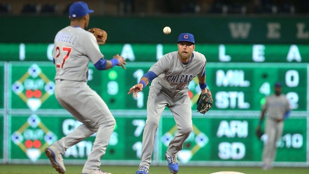 The Cubs turned seven double plays, which tied a longtime MLB record. (Photo Credit: Charles LeClaire-USA TODAY Sports)