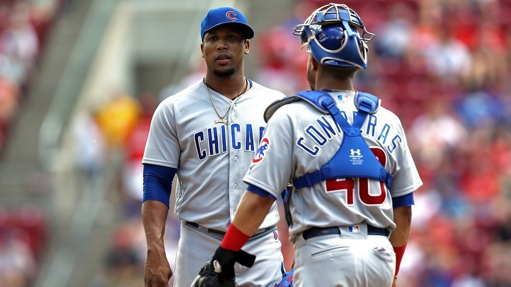 Chicago Cubs middle reliever Pedro Strop suffered his worst outing of the season in a disastrous seventh-inning showing. (Photo Credit: Aaron Doster-USA TODAY Sports)