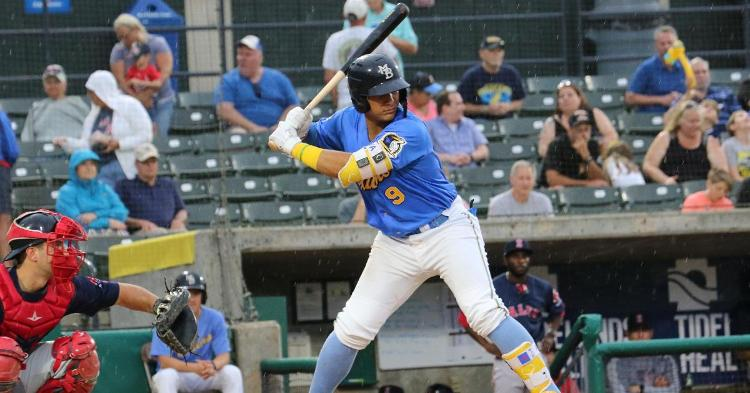 Miguel Amaya is one of the top Cubs prospects (Photo credit: Larry Kave)