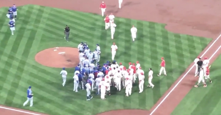 St. Louis Cardinals catcher Yadier Molina was irked at Chicago Cubs starting pitcher Cole Hamels after getting grazed by one of Hamels' pitches.