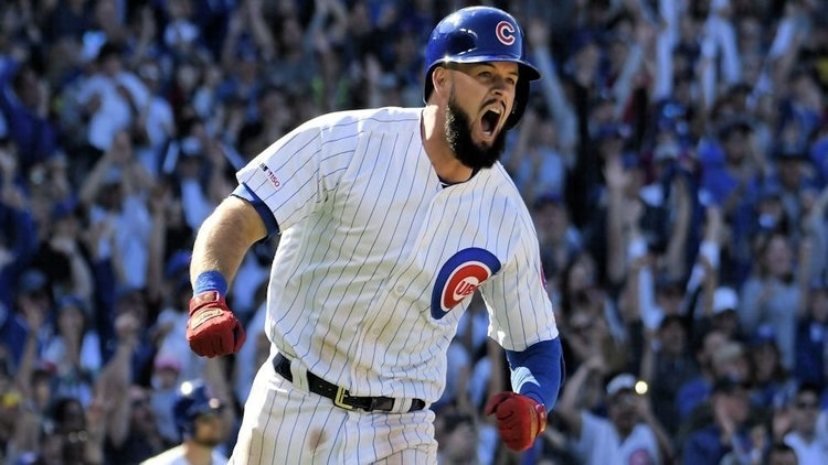 In just his second season in the majors, David Bote has already developed a flair for dramatic hits. (Credit: David Banks-USA Today Sports)