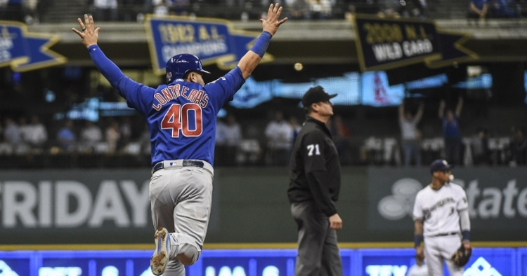 Contreras moves over to DH this afternoon (Benny Sieu - USA Today Sports)