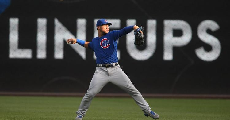 Willson Contreras experienced a spectacular high and a devastating low in his first career start as a right fielder. (Credit: Charles LeClaire-USA TODAY Sports)