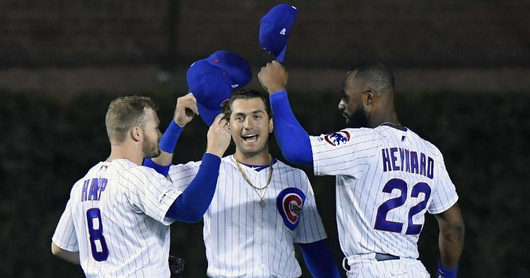 The Chicago Cubs were assuredly happy to escape with a win over the Oakland Athletics on Monday night. (Credit: Quinn Harris-USA TODAY Sports)