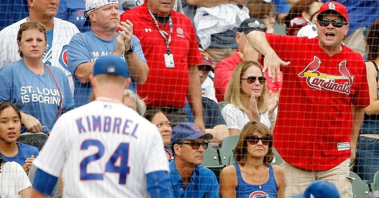 Chicago Cubs closer Craig Kimbrel was taken deep twice in a blown save that resulted in the Cubs' fourth 1-run loss in a row. (Credit: Jon Durr-USA TODAY Sports)