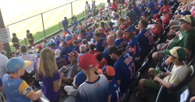 The Chicago Cubs took part in the Little League World Series action on Sunday afternoon.