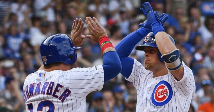 Hoerner and Schwarber in the lineup today (Matt Marton - USA  Today Sports)