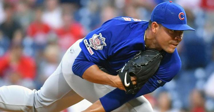 Lefty starter Jose Quintana is working his way back from thumb surgery. (Credit: Eric Hartline-USA TODAY Sports)