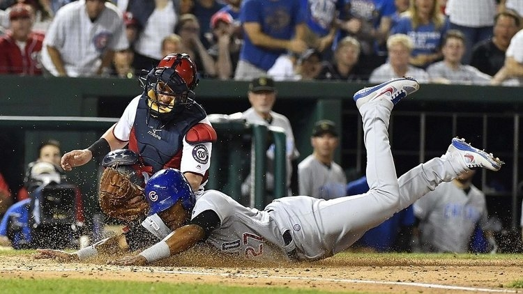 The Cubs were never able to seriously threaten the Nationals in the 5-2 Chicago defeat. (Credit: Brad Mills-USA TODAY Sports)