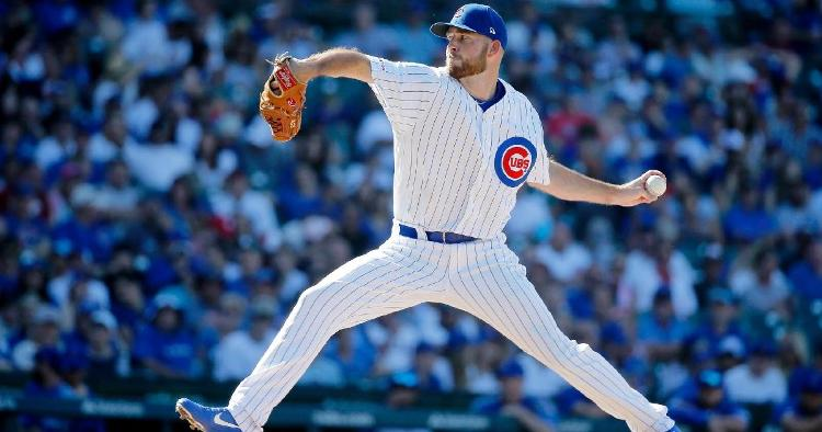 Kyle Ryan was one of three Cubs relievers to excel on the mound in the North Siders' win against the Brewers. (Credit: Jon Durr-USA TODAY Sports)