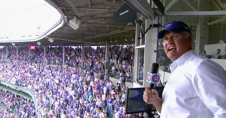 Ryno singing the 7th inning stretch on June 23, 2019