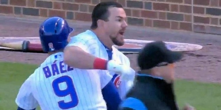 Evidently, Hell hath no fury like a Schwarber scorned. The gentle giant erupted after being called out on a checked swing to end the game.