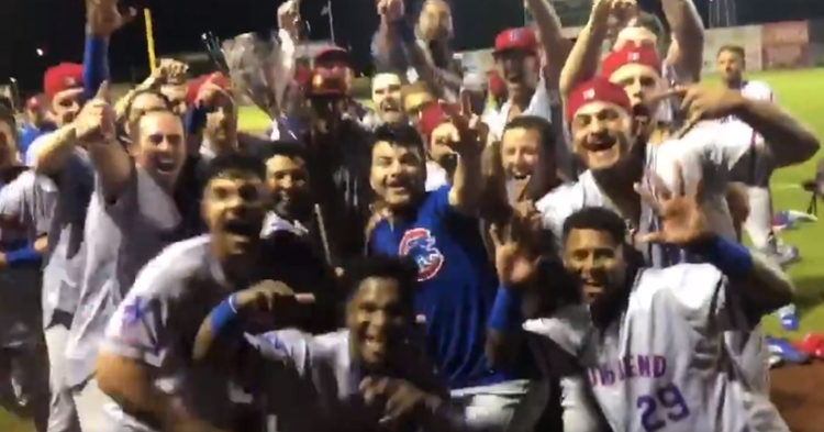 South Bend wins the Midwest League title (Photo credit: South Bend)