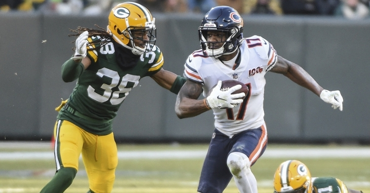 Wide receiver Anthony Miller was a bright spot for the Chicago Bears, as he nabbed nine receptions, including a touchdown grab. (Credit: Benny Sieu-USA TODAY Sports)