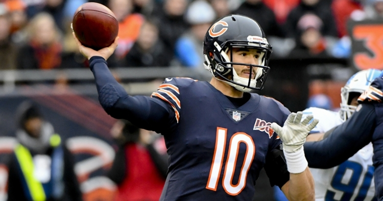 Chicago Bears quarterback Mitchell Trubisky fared well in the Bears' 20-13 win over the Detroit Lions. (Credit: Matt Marton-USA TODAY Sports)