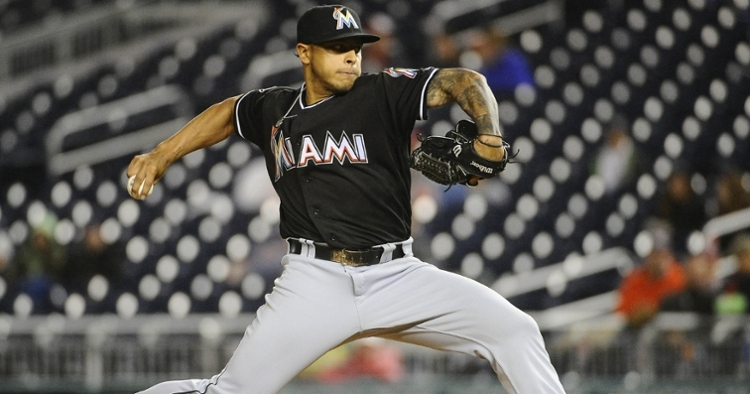 The Chicago Cubs are signing veteran right-handed relief pitcher A.J. Ramos. (Credit: Brad Mills-USA TODAY Sports)