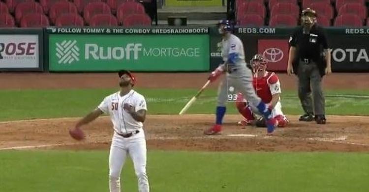 WATCH: Javy Baez blasts his first homer of season