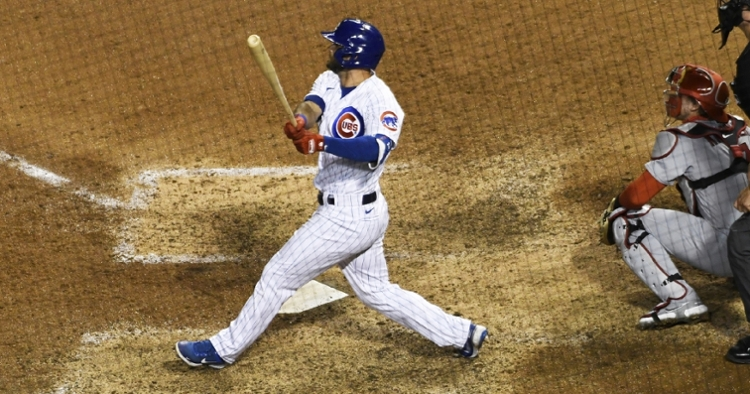 David Bote's second career pinch-hit home run proved to be the winning hit in Monday night's contest at Wrigley Field. (Credit: David Banks-USA TODAY Sports)