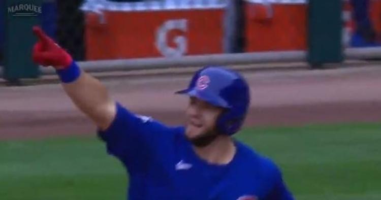 WATCH: David Bote smacks his 7th homer of season