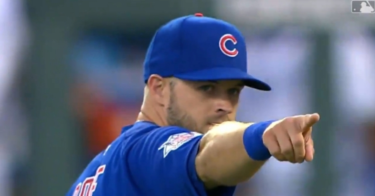 Usually a third baseman, David Bote started at second base on Wednesday and pulled off a great defensive play.