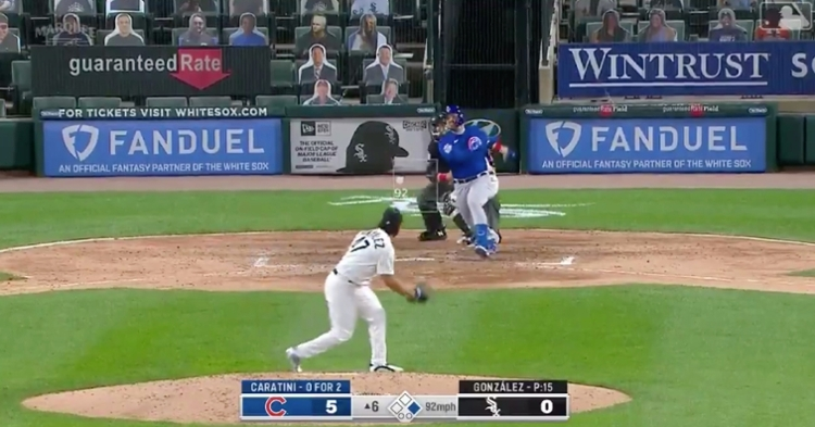 Cubs catcher Victor Caratini's first home run of the year increased his 2020 RBI total to 16.