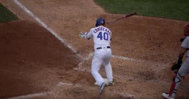 Willson Contreras increased his RBI total to 19 with a two-run base knock on Monday.