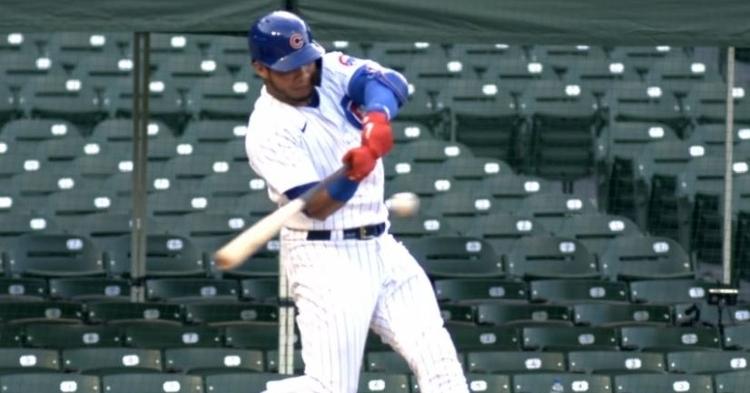 WATCH: Willson Contreras stays hot, smacks homer vs Twins