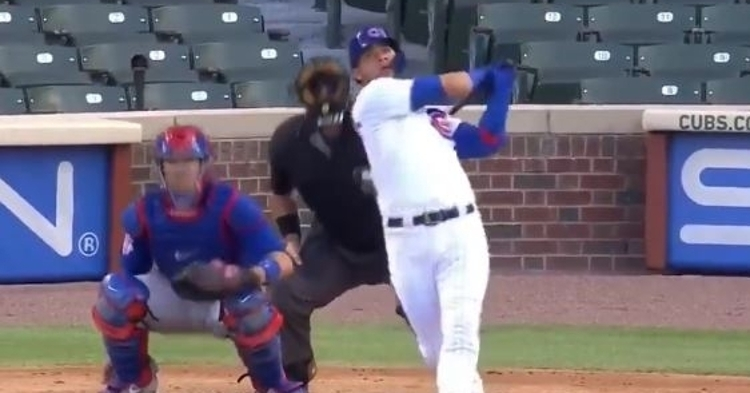 Willson Contreras is hitting the ball well in summer camp