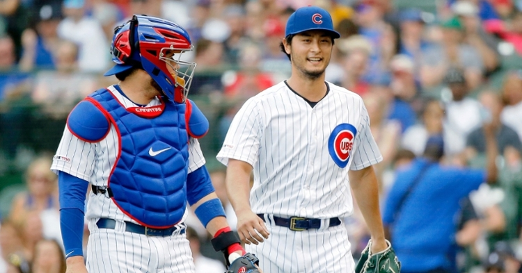 Darvish and Caratini are great friends (Jon Durr - USA Today Sports)