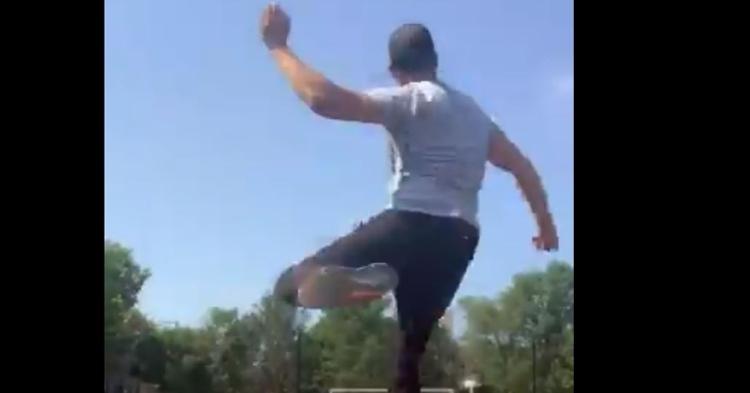 Theo Epstein can kick a football