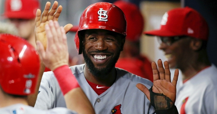 St. Louis Cardinals outfielder Dexter Fowler was placed on the injured list for precautionary reasons pertaining to COVID-19. (Credit: Brett Davis-USA TODAY Sports)