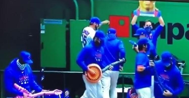 WATCH: Cubs bullpen dances hilariously after Kipnis homer