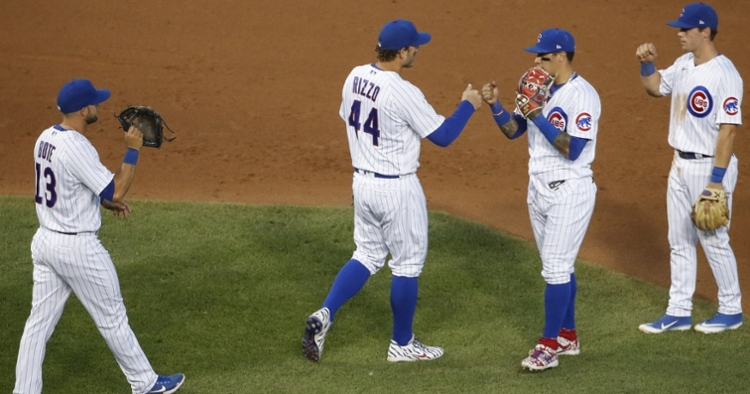 The Cubs won three out of five versus the Cardinals in a series that featured two doubleheaders. (Credit: Kamil Krzaczynski-USA TODAY Sports)