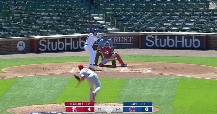 Cubs outfielder Ian Happ has gone yard for three straight days against the Cardinals.