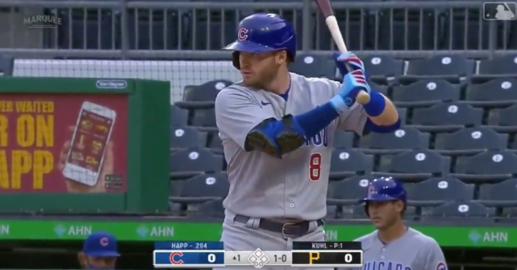 Ian Happ now holds the franchise record for the most home runs hit by a switch hitter in a Cubs uniform.