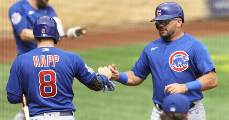 Happ and Schwarber are two key Cubs players (Charles LeClaire - USA Today Sports)